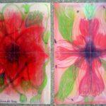"""""""Blüten"""" 2003 Buntstift; 42 mal 30 cm"""