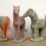 Reihe von Pferden; ca 30 cm hoch; 2015
